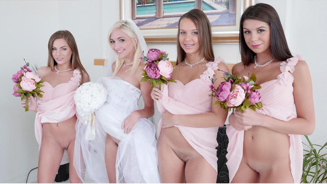 Bridesmaids And Bride Teen Got Banged Before Wedding