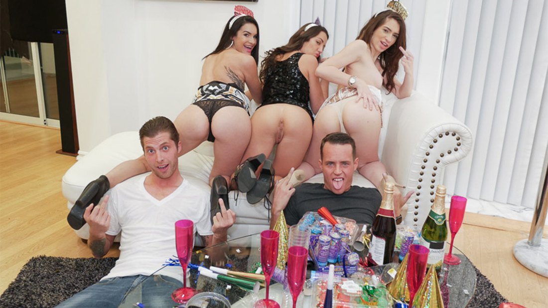 Porn party new year