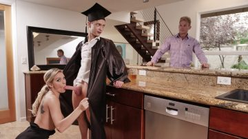 Cap And Gown Dick Down Kenzie Taylor