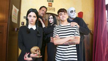 Addams Family Orgy Audrey Noir and Kate Bloom
