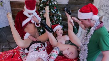 Christmas Family Orgy Charlotte Sins and Summer Hart